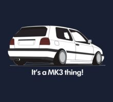 MKIII Gti Graphic-White ink Kids Clothes