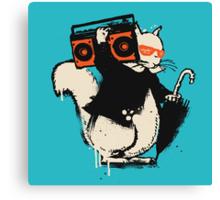 Boombox squirrel Canvas Print