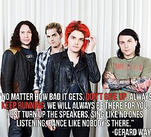 Gerard Way Quote #4 by xdangerline