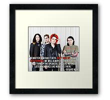 Gerard Way Quote #4 Framed Print