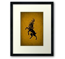House Baratheon Minimalist Framed Print