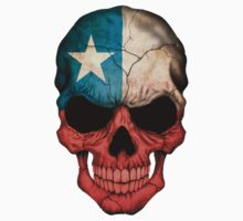 Chilean Flag Skull by Jeff Bartels