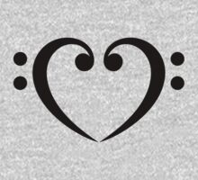 Bass Clef Heart, Music, Musician, Party, Festival, Dance Kids Clothes