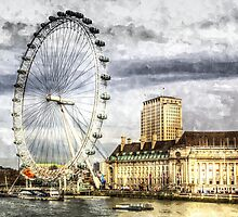 The London Eye Art by DavidHornchurch