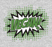 Go Vegan, Comic Book Style Kids Clothes