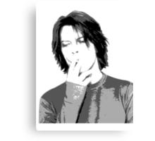 David Bowie Smoking  Canvas Print