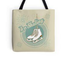Iсe skating in retro style  Tote Bag
