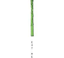 asparagus eat me, asparagus wants you by eclecticart