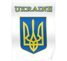 Ukraine coat of arms Poster