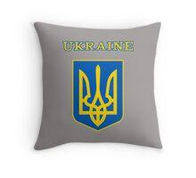 Ukraine coat of arms Throw Pillow