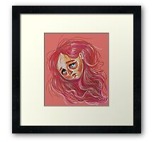 Floating Red Head Framed Print