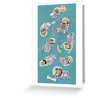 Space Critters Greeting Card