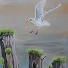 Lone Gull by Cal Kimola Brown