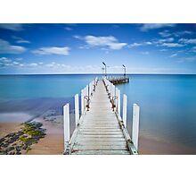 Safety Beach Pier on a beautiful blue sky day on the Mornington Peninsula Photographic Print