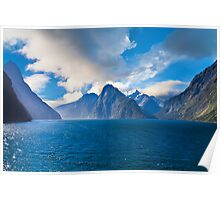 Milford Sound, New Zealand on a Sunny Day Poster