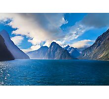 Milford Sound, New Zealand on a Sunny Day Photographic Print