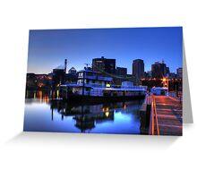 Tugboat at Night Greeting Card