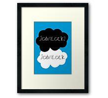 Johnlock? Johnlock Framed Print