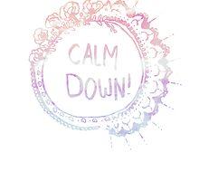 Calm Down (in orange ocean) by bexsimone