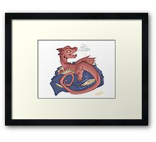 Baby Smaug - commissioned by smauglet Framed Print