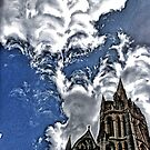 Distorted Truro cathedral by Roxy J