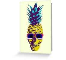 Pineapple Skull Greeting Card