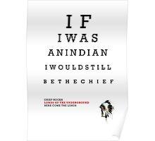 Indian Eye Chart Poster