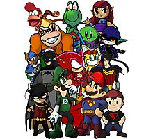 The Justice League of Nintendo and Sidekicks Photographic Print