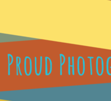 Proud Photographer Sticker