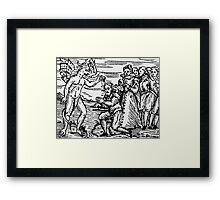 Baptism by the Devil Framed Print