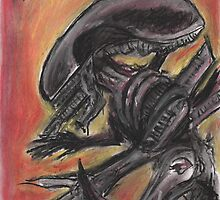"""""""Tribute to HR Giger""""  by jedidiah morley"""
