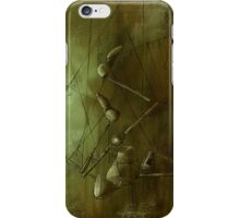 Reaching for Scissors, Creepy Puppet Painting iPhone Case/Skin