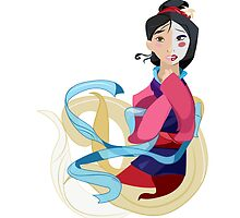 Mulan: Reflection by MinetteMona
