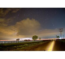 Double Yellow Storm Chase Photographic Print