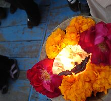 Puja at Ganges by theflyingcat