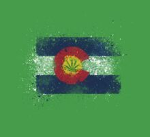 Colorado Flag Splatter w/ Cannabis Leaf by tychilcote