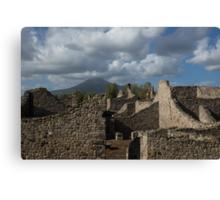 Vesuvius, Towering Over the Pompeii Ruins Canvas Print