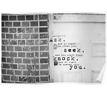 Ask Seek Knock Poster