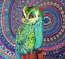 Exotic Owl by TiffanysArt