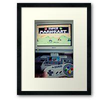 Mario Kart on Super Nintendo Framed Print