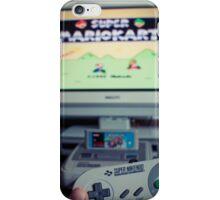 Mario Kart on Super Nintendo iPhone Case/Skin
