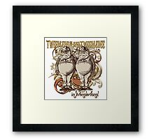 Tweedledum & Tweedledee Carnivale Style - Gold Version Framed Print