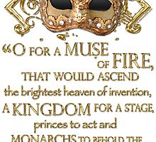 Shakespeare Henry V Muse Quote by Sally McLean