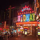 Clifton Hill At Night  by Gary Chapple