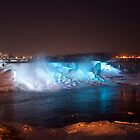 American Falls In Blue by Gary Chapple