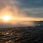 The Edge Of The Horseshoe Falls At Sunrise by Gary Chapple