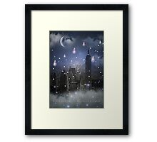 Stars Cannot Shine Without Darkness - City Version (City Lights Series) Framed Print