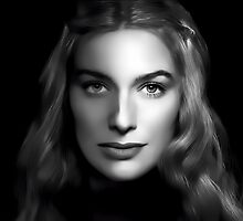 Lena Headey as Cersei Lannister  in Game of Thrones Digital Art Portrait by David Alexander Elder