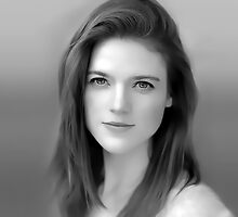 Rose Leslie as Ygritte in Game of Thrones Digital Art Portrait by David Alexander Elder