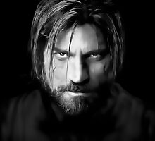 Nikolaj Coster Waldau as Jaime Lannister in Game of Thrones Digital Art Portrait by David Alexander Elder
